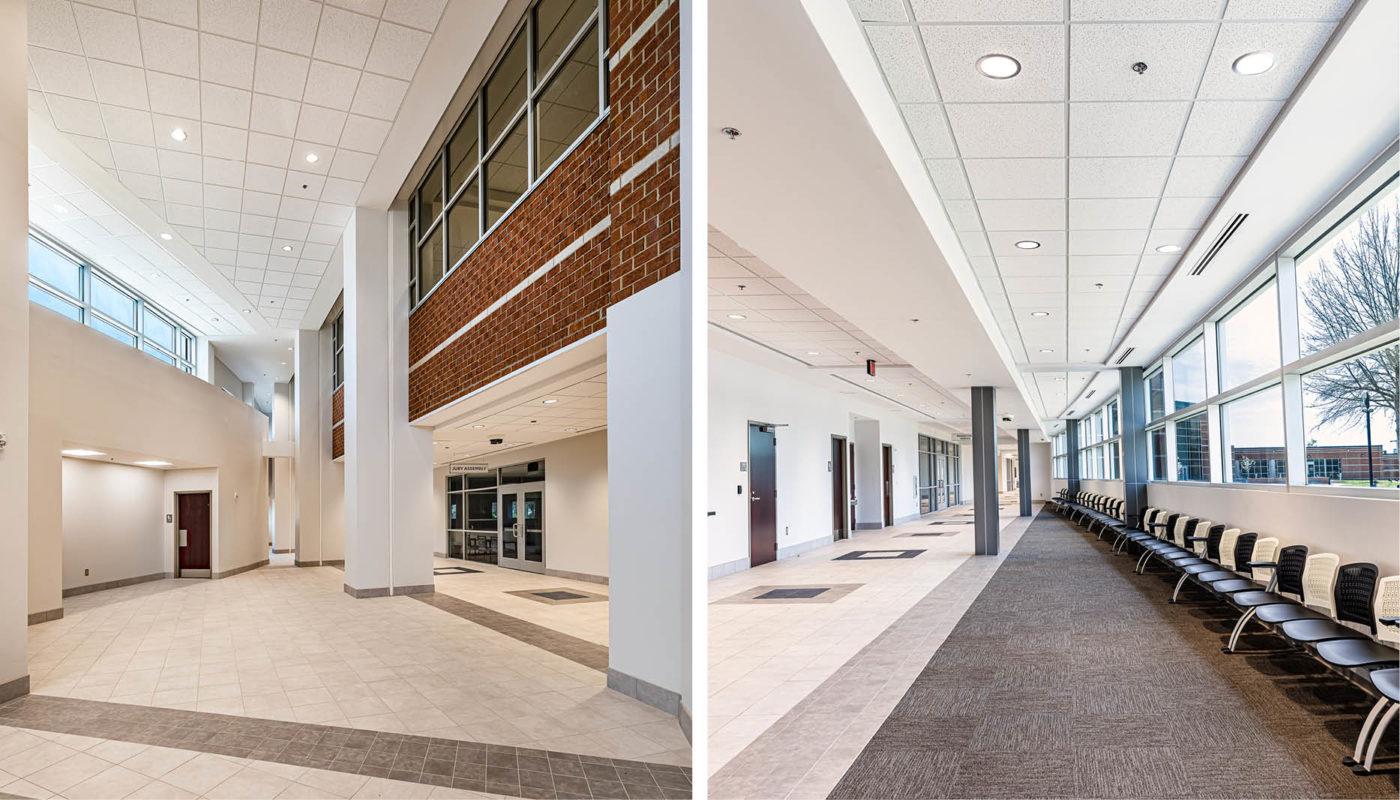 Interior views of Moss Justice Center