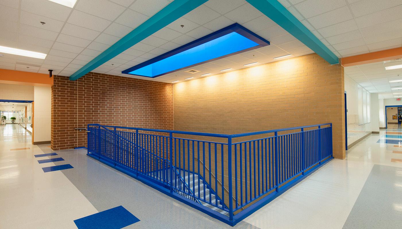 Hallways and stairwell
