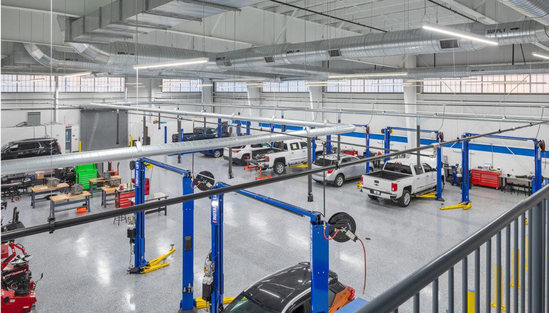 Automotive Collision and Repair Building interior